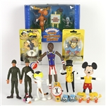 1960s-2000s Bendie Figures Various Action Figures and Toys Featuring Popeye, Mighty Mouse, Mickey Mouse and More (Lot of 10)