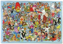 "1981 Bugs Bunny Looney Tunes 23"" x 33"" Jigsaw Puzzle"