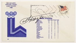 1980 Joe Frazier Heavyweight Champion Signed XIII Olympic Lake Placid Winter Games Envelope (JSA)