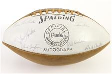 1964-65 Green Bay Packers Team Signed Football w/ 46 Signatures Including Vince Lombardi, Jim Taylor, Fuzzy Thurston & More (JSA)