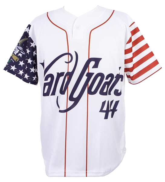2018 Hartford Yard Goats #44 4th of July Jersey (MEARS LOA)