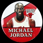 "1988 Michael Jordan Chicago Bulls 3"" Pinback Button"