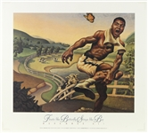 "1990s Muhammad Ali ""Floats Like a Butterfly Stings Like a Bee"" 18""x 20"" Loren Long Lithograph"