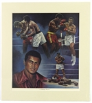 "1979 Muhammad Ali ""A Champ Forever"" 26""x 29"" Mounted Lithograph"