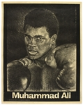 "1971 Muhammad Ali 23""x 29"" Mosley International Productions Lithograph"