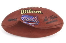 "2002 Tom Brady New England Patriots Super Bowl XXXVI Official Paul Tagliabue Football ""Official First Appearance Football"""