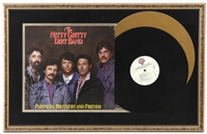 "1985 Nitty Gritty Dirt Band Signed Partners Brothers & Friends 17"" x 27"" Framed Record (JSA)"
