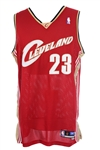 2003-04 LeBron James Cleveland Cavaliers Pro Cut Road Jersey (MEARS LOA)