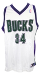 1997-2003 Ray Allen Milwaukee Bucks Home Jersey