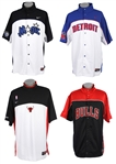 2000s NBA Warmup Collection - Lot of 4 w/ Chicago Bulls, Orlando Magic & Detroit Pistons
