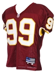 2001 Marco Coleman Washington Redskins Game Worn Home Jersey (MEARS LOA)