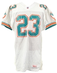 1993 Keith Byars Miami Dolphins Game Worn Road Jersey (MEARS LOA)