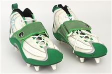 1997 Gilbert Brown Green Bay Packers Signed Game Worn Nike Cleats (MEARS LOA/JSA)