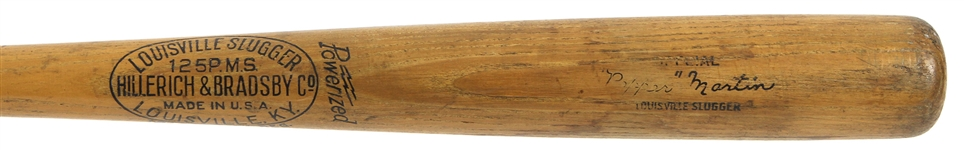 1934-40 Pepper Martin St. Louis Cardinals H&B Louisville Slugger Store Model Bat