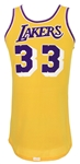 1978-85 Kareem Abdul-Jabbar Los Angeles Lakers Signed Game Worn Home Jersey (MEARS A10/*JSA Full Letter*)