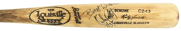 1986-89 Kirby Puckett Minnesota Twins Signed Louisville Slugger Professional Model Game Used Bat (MEARS A10/*Full JSA Letter*)