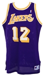 1990-92 Vlade Divac Los Angeles Lakers Road Jersey (MEARS LOA)