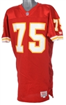1989-90 Irv Eatman Kansas City Chiefs Home Jersey (MEARS LOA)