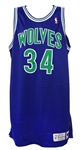 1993-94 Isaiah Rider Minnesota Timberwolves Signed Game Worn Road Jersey (MEARS LOA/JSA)