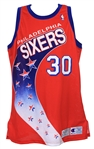1992-93 Clarence Weatherspoon Philadelphia 76ers Signed Game Worn Road Jersey (MEARS LOA/JSA)