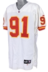 1999 Leslie ONeal Kansas City Chiefs Game Worn Road Jersey (MEARS LOA)
