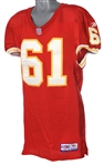 1997 Tim Grunhard Kansas City Chiefs Game Worn Home Jersey (MEARS LOA)