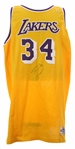 1996-97 Shaquille ONeal Los Angeles Lakers Signed Game Worn Home Jersey (MEARS LOA/*JSA*)