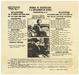 1934 Bonnie Parker Clyde Barrow Department of Justice Wanted Mailer