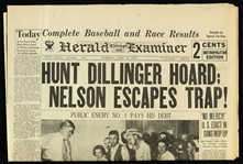 1934 (July 24) John Dillinger Public Enemy No. 1 Pays His Debt Chicago Herald Examiner Newspaper