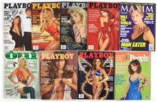 1970s-90s Starlet Signed Magazine Collection - Lot of 9 w/ Donna DErico, Erika Eleniak, Patti McGuire, Stephanie Seymour & More (JSA)