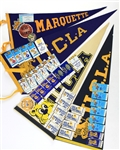 1980s-90s Baseball Basketball Football Hockey Full Size Pennant & Ticket Stub Collection - Lot of 35+
