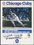 1985 Pete Rose Cincinnati Reds Signed & Inscribed (#4191) Unscored Game Program (JSA)