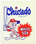 "1971-75 Chicago White Sox 9"" x 11"" Molded Plastic Sign"