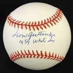 1995-99 Don Gutteridge Chicago White Sox Signed OAL Budig Baseball (JSA)