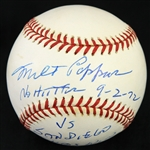 2001 Milt Pappas Chicago Cubs Signed & Inscribed OML Selig Baseball (JSA/MLB Hologram)