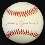 1993-94 Luis Aparicio Chicago White Sox Signed OAL Brown Baseball (JSA)