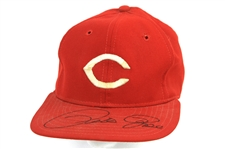 1977-78 Pete Rose Cincinnati Reds Signed Game Worn Cap (MEARS LOA/JSA)