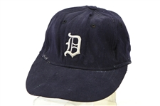 1963-67 Detroit Tigers Game Worn Cap (MEARS LOA)