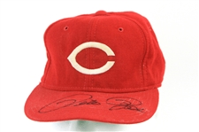 1986 Pete Rose Cincinnati Reds Signed Game Worn Cap (MEARS LOA/JSA)