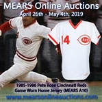 1985-86 Spectacular Pete Rose Cincinnati Reds Signed Game Worn Home Jersey (MEARS A10 / JSA)