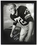 "1958-1972 Ray Nitschke Green Bay Packers Signed 18""x 22"" Framed Photo (JSA)"