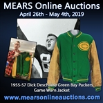 1955-57 Dick Deschaine Green Bay Packers Game Worn Jacket + Alumni 50 Year Guide (MEARS LOA/Family Letter)