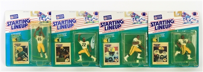 1988 Green Bay Packers MOC Starting Lineup Figures - Lot of 4 w/ Brent Fullwood, Mark Lee, Ken Davis & Phillip Epps