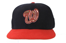 2012 (May 28) Bryce Harper Washington Nationals Game Worn Memorial Day Cap (MEARS LOA) Rookie Season