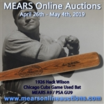 "1926 Lewis ""Hack"" Wilson Chicago Cubs H&B Louisville Slugger Professional Model Game Used Bat (MEARS A9 / PSA GU9) ""Fresh To The Hobby"""