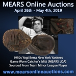 1950s Yogi Berra New York Yankees Game Worn Catcher's Mitt (MEARS LOA)