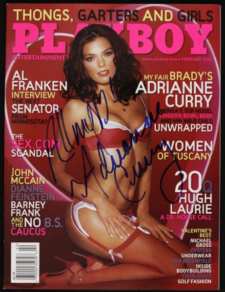 2006 Adrianne Curry Americas Next Top Model Signed Playboy Magazine (JSA)