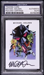 Michael Golden American Comic Artist Signed LE Trading Card (PSA/DNA Slabbed)