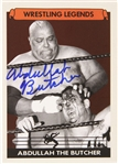 Abdullah the Butcher Wrestling Legend Signed LE Trading Card (JSA)