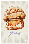 1990s Joe Sinnott Thing Fantastic Four Inked & Colored Signed 11x17 Color Print (JSA)